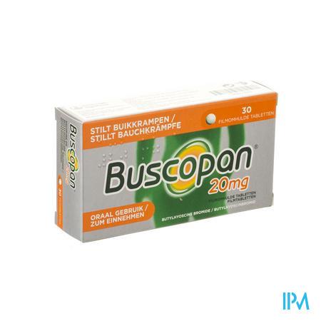 Afbeelding Buscopan 20mg 30 tabl.