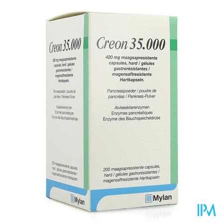 Creon 35000 420mg Maagsapresist Harde Caps200 Hdpe