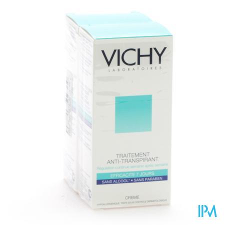 Afbeelding Vichy Antitranspiratie Verzorging Crème 7 Dagen Duo Promopack 2 x 30 ml.
