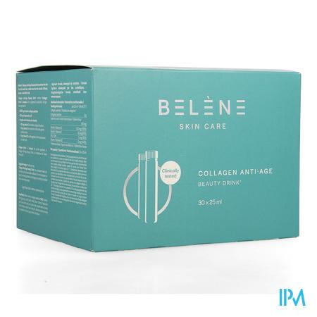 Afbeelding Belène Skin Care Collagen Anti-Age Beauty Drink voor een Gladde en Stevige Huid 30 x 25 ml.