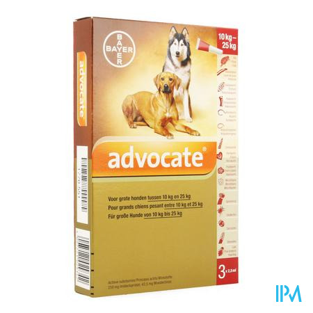 Advocate Spot On Grote Hond >10-25kg Pipet 3