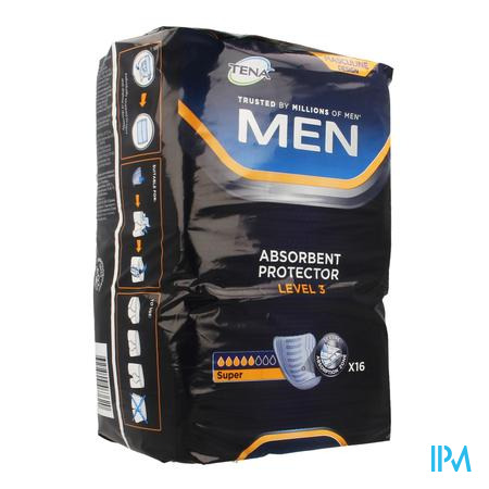 Tena Men Level 3 16 750830  -  Sca Hygiene Products/Incont Care