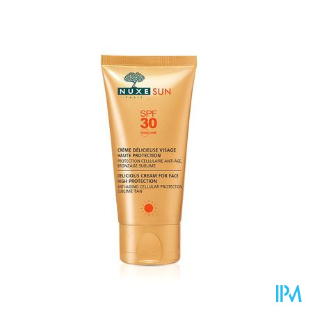 Nuxe Sun Creme Delicieuse Gezicht Ip30 Tube 50ml