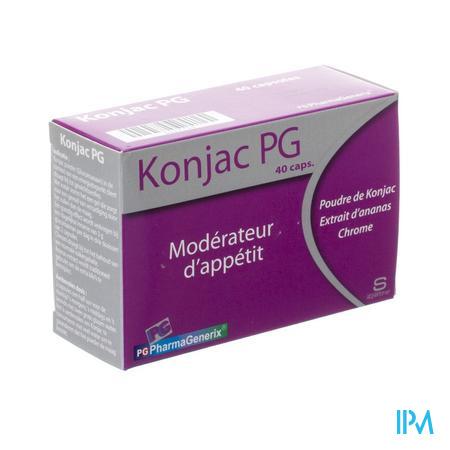 Konjac Pg Pharmagenerix Caps 40