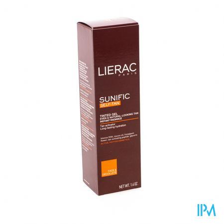 Afbeelding Lierac Sunific Autobronzant Gekleurde Gel voor Natuurlijke en Egale Bruine Kleur voor Gelaat en Decolleté 40 ml.