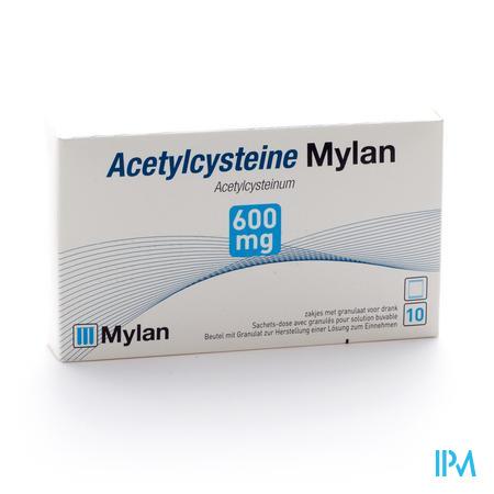 ACETYLCYSTEINE MYLAN SACH 10 X 600 MG