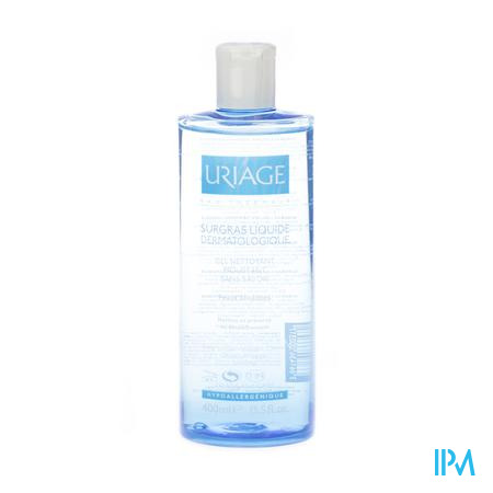 Afbeelding Uriage Surgras Liquide Dermatologique Schuimende Reinigingsgel voor Gevoelige Huid Flacon 400 ml.