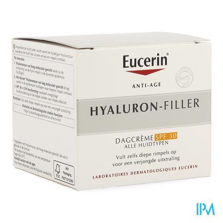 Afbeelding Eucerin Hyaluron-Filler Dagcrème met SPF 30 voor Opvulling van Rimpels en Verjongde Uitstraling voor Alle Huidtypes Pot 50 ml.