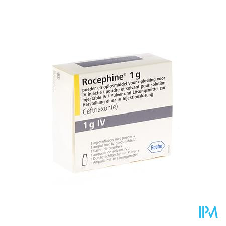Rocephine Amp Iv 1 X 1g + Solv