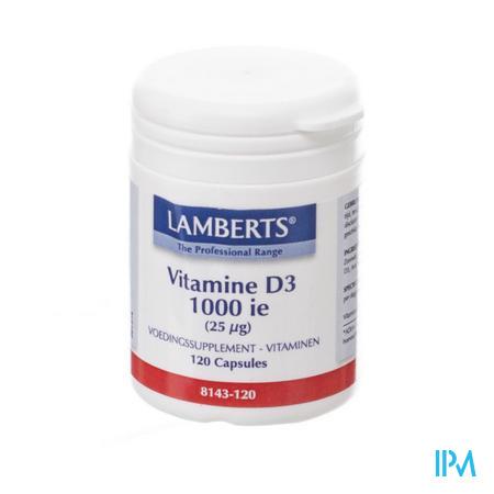 Lamberts Vitamine D 1000ie 25mcg Tabl 120