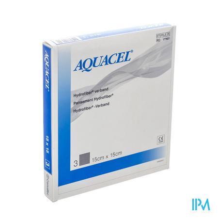 Aquacel Verband Hydrofiber Steriel 15cm x 15cm 3 stuks