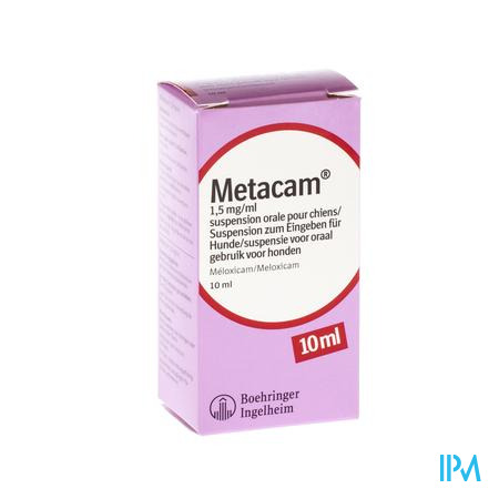 Metacam Susp Oral 1,5mg/1ml 10ml Honden