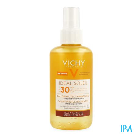Afbeelding Vichy Idéal Soleil Zonbeschermend Water met SPF 30 voor Optimale Bruine Teint met Bètacaroteen Spray 200 ml.