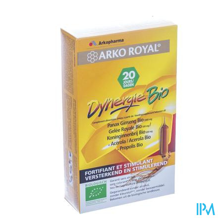 Arkoroyal Dynergie Bio 20 ampoules