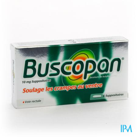 Buscopan Supp 6 X 10mg