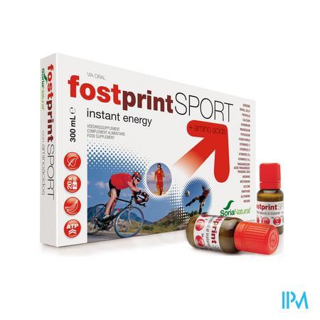 Afbeelding Soria FostPrint Sport Instant Energy met Aminozuren Ampullen 20 x 15 ml.