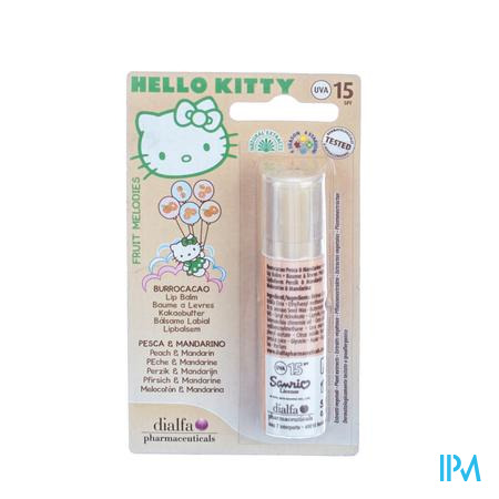 Hello Kitty Lipbalsem Perzik-Mandarijn 1 stuk