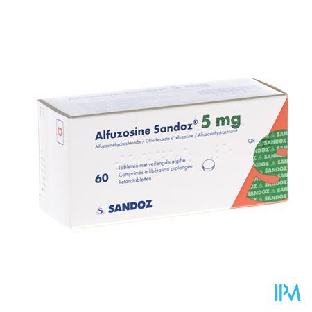 Alfuzosine Sandoz Comp 60 X 5mg