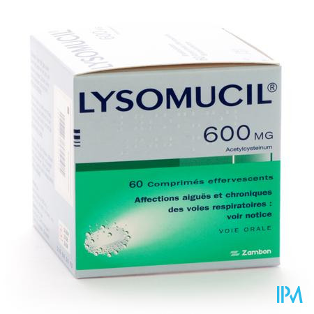 Lysomucil Cpr Eff. 600 mg 60