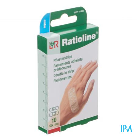 Ratioline Aqua Pleister ADH Voorgesneden 10 pleisters