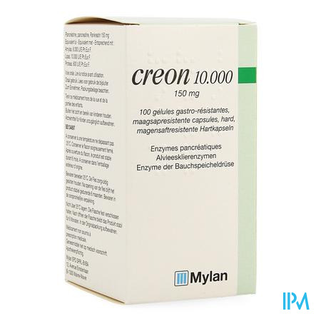 Creon 10000 Caps Maagsapresist Hard 100 X 150mg