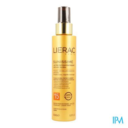 Afbeelding Lierac Sunissime Verkwikkende Zonnemelk SPF 15 met Globale Anti-Ageing voor Lichaam Spray 150 ml.