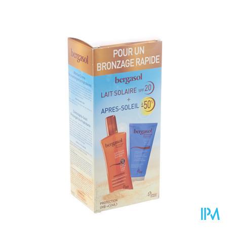 Bergasol Zonnemelk IP20 + Aftersun aan -50 %  PROMO