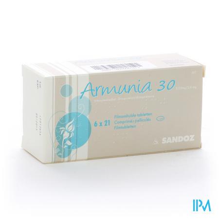 Armunia 30 Sandoz Filmomhulde Tabletten 6 X 21