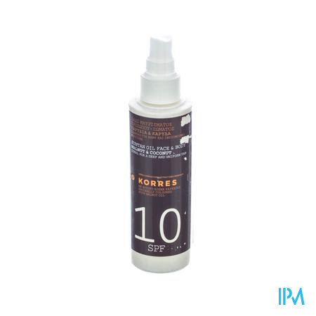 Korres Suntan Olie IP10 150 ml