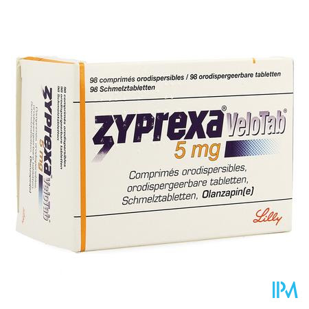 Zyprexa Velotab 5mg Pi Pharma Comp Orodisp.98 Pip