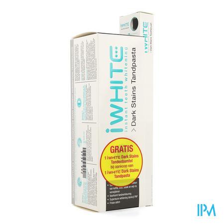 Iwhite Dark Stains Dentifrice + Brosse Dents Grat.