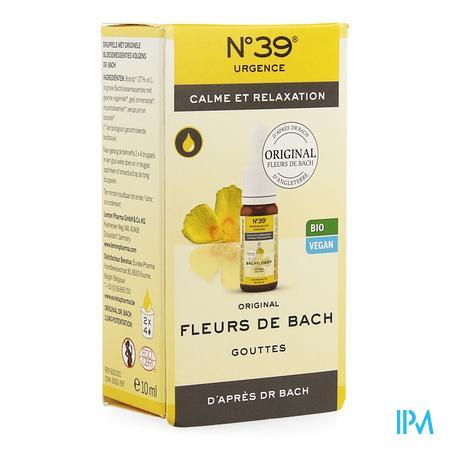Fleurs De Bach Bio N39 Urgence Gutt 10ml