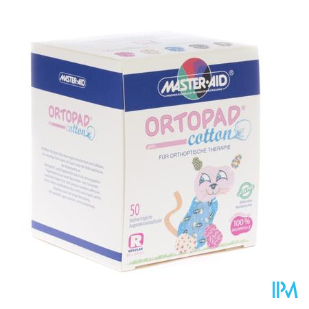 Ortopad Cotton Regular Girls 70164 Oogpleister 50 stuks