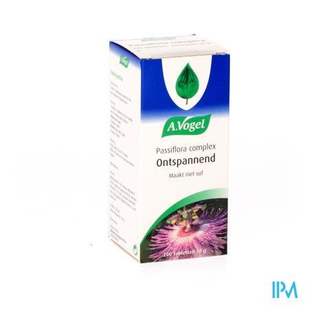 Afbeelding A. Vogel Passiflora Complex Ontspannend en Maakt niet Suf 200 Tabletten.
