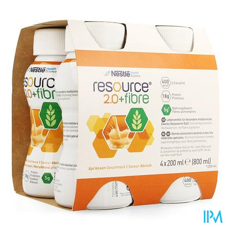 Resource 2.0 Fibre Abricot 4x200ml 12100729