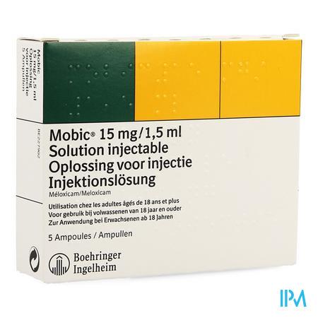 Mobic Sol Inj Amp 5 15mg/1,5ml