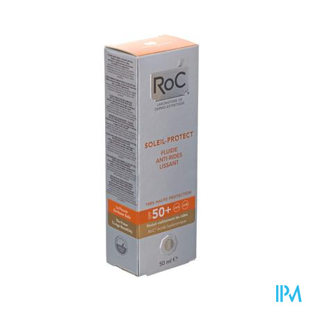 Afbeelding Roc Soleil Protect 2in1 Anti-rimpel Fluid IP50 egaliserend 50ml.