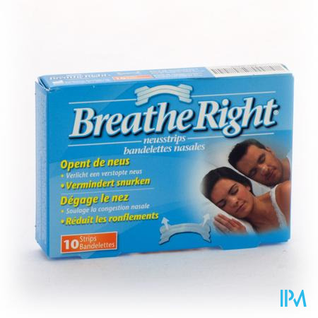 Afbeelding Breathe Right Clear Regular 10 Neusstrips .