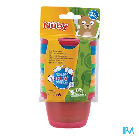 Nuby Bol Et Le Couvercle 300 ml 6 pièces