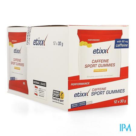 Afbeelding Etixx Caffeïne Sport Gummies met Citrussmaak Zakjes 12 x 40 g.