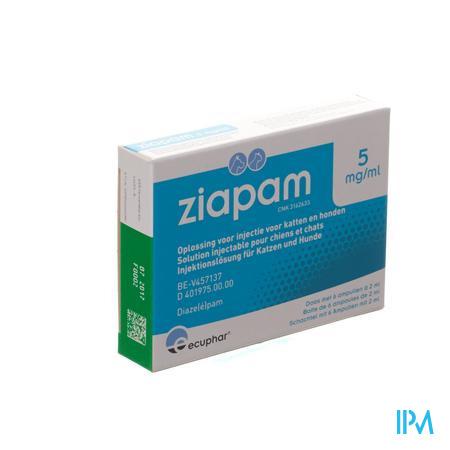 Ziapam 5mg/ml Opl Inj Hond Kat Amp 6x2ml