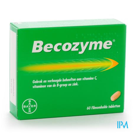 Afbeelding Becozyme 60 Tabletten.