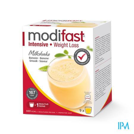 Modifast Intensive Milkshake Banane 9 x 47 g sachets
