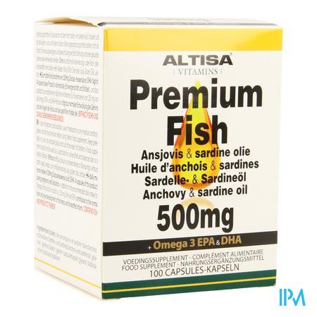 Altisa Ansjovis-sardine Olie 500mg Caps 100