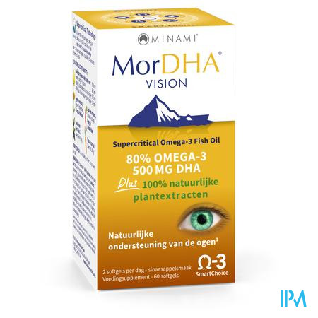 Mor DHA Vision Pot Softgels 60 caps