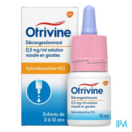 Otrivine Hydrat 0,5/1000 Gouttes 10 ml