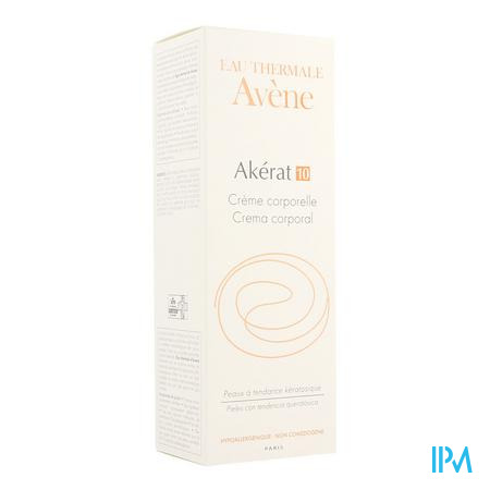 Afbeelding Avène Akérat 10 Lichaamscrème voor Gevoelige en door Keratose Uitgedroogde Huid en voor Eeltplekken 200 ml.