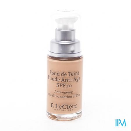Afbeelding T. LeClerc Anti-Ageing Fond de Teint Fluide met SPF 20 Tint n°02 Clair Rosé Satiné Pompflacon 30 ml.