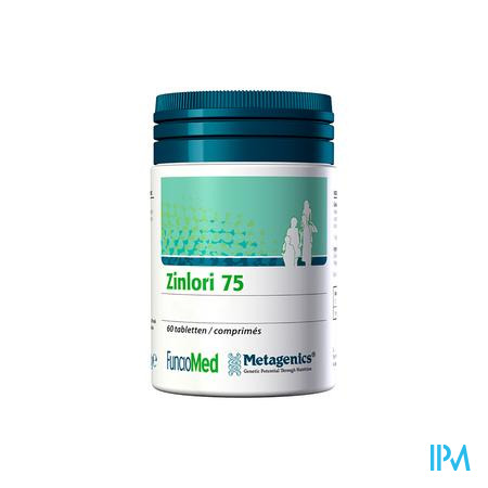 Zinlori 75 Comprimés 60 4216 Metagenics
