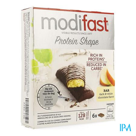 Modifast Intensive Control Reep Zwart-wit Choco 6